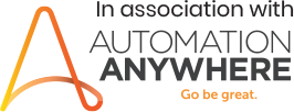In association with Automation Anywhere (Logo)